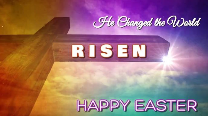 Happy Easter Digital Display template