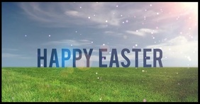 Happy Easter Facebook greeting shared image