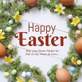 Happy Easter Greeting Card Video Wishes Eggs Flowers Spring