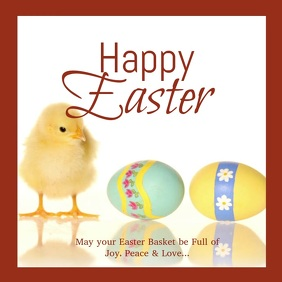Happy Easter Greeting Card Video Wishes Eggs Spring