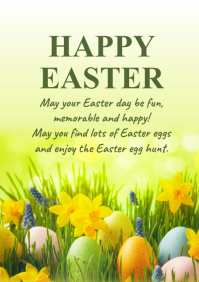 Happy Easter Greeting Card Wishes Text din