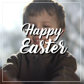 Happy Easter Greeting Video Card Chocolate