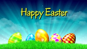 Happy Easter Greeting Video Card Wishes Eggs heaven
