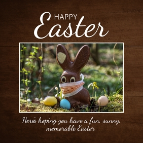 Happy Easter Greetings Wishes Corona Bunny