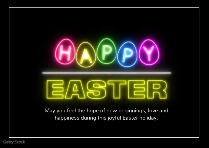 Happy Easter Greetings Wishes Online Card Kartu Pos template