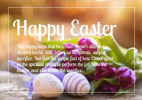 Happy Easter Greetings Wishes Online Card Postcard template