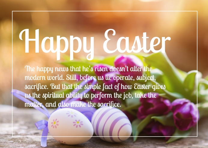 Happy Easter Greetings Wishes Online Card Poskaart template