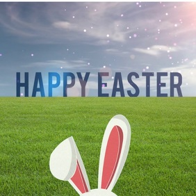 Happy Easter Instagram greeting shared image