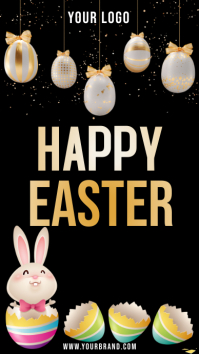 happy easter instagram story Instagram-verhaal template