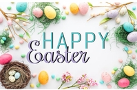 HAPPY EASTER ONLINE CARD TEMPLATE Plakkaat