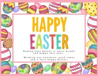 HAPPY EASTER ONLINE CARD TEMPLATE Pamflet (VSA Brief)