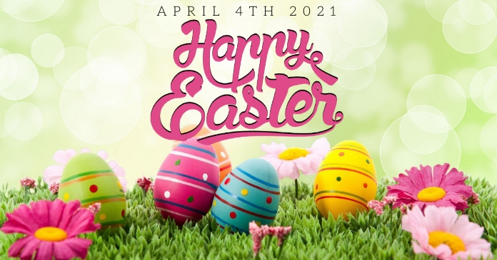 HAPPY EASTER ONLINE CARD TEMPLATE Facebook Shared Image