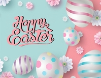 HAPPY EASTER ONLINE CARD TEMPLATE Рекламная листовка (US Letter)