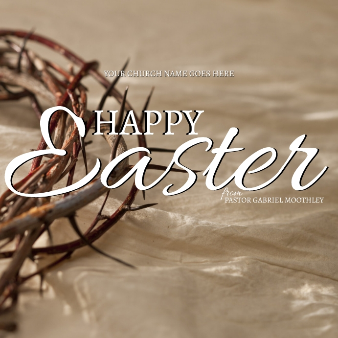 HAPPY EASTER ONLINE CARD TEMPLATE Persegi (1:1)