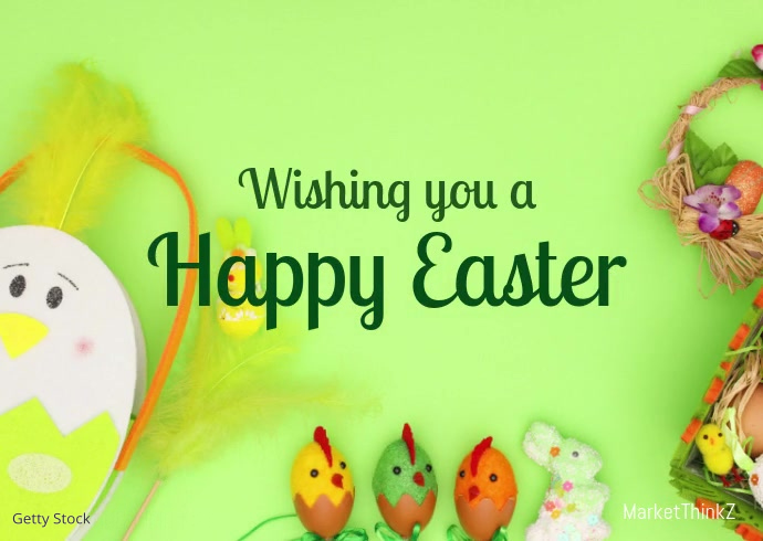 happy Easter Online Greeting Video Card Deco