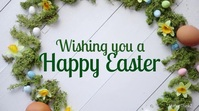 happy Easter Online Greeting Video Card Deco Display digitale (16:9) template