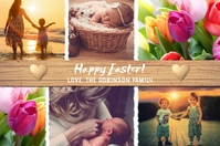 Happy Easter Photo Collage Card Label template