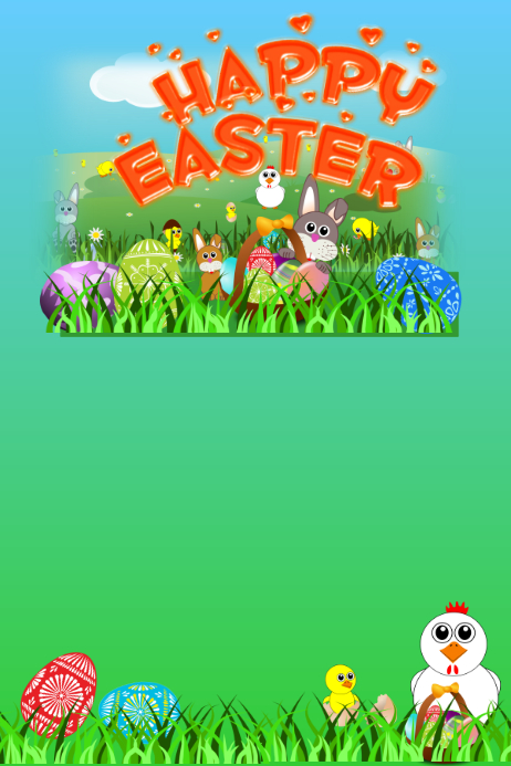 Free easter poster templates for word