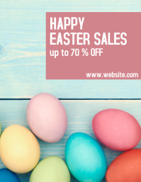happy easter sale advertisement flyer template