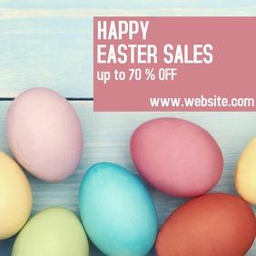 happy easter sale instagram post template