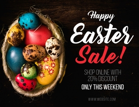 Happy Easter Sale Shopping Online Flyer