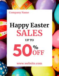 Happy easter sales advertisement