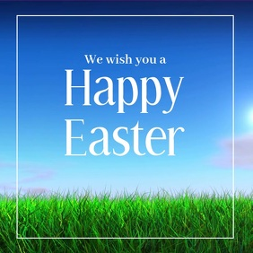 Happy Easter Square Advert video ad