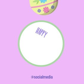 Happy Easter Square Video