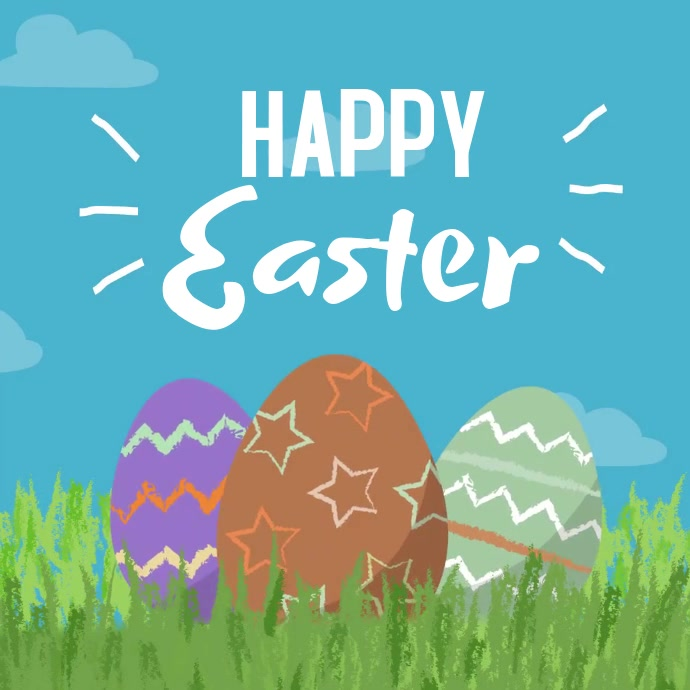 Happy Easter Square Video template