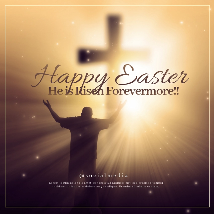 Happy Easter Sunday Template Postermywall