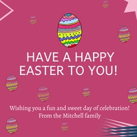 Happy easter to you โพสต์บน Instagram template