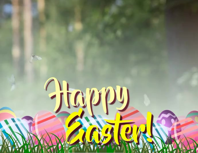 Happy Easter video Pamflet (Letter AS) template