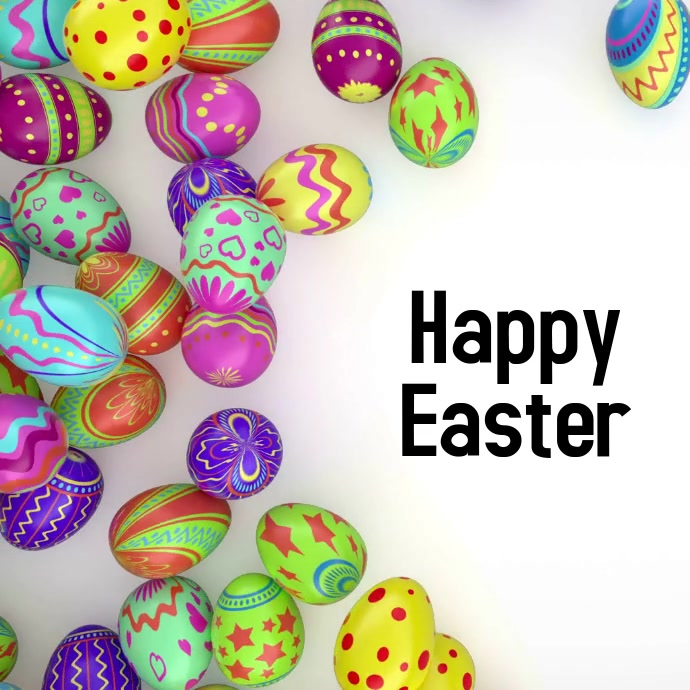 Happy Easter Video Vierkant (1:1) template