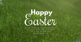 Happy Easter Video Greeting Card eggs Square