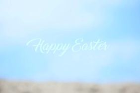 Happy Easter Video Poster Template