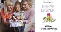 Happy Easter Wish Card Gambar Bersama Facebook template
