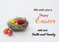 Happy Easter Wish card 明信片 template