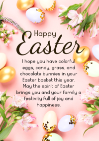 Happy Easter Wishes Eggs Decoration din