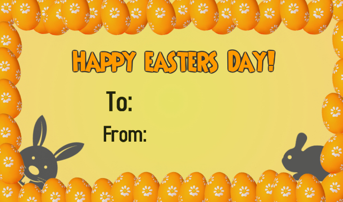 Happy Easters Day Etykietka doczepna template