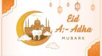 Happy Eid mubarak new design celebration Twitter Post template