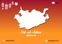 Happy Eid-u-Adha Postcard Poskaart template