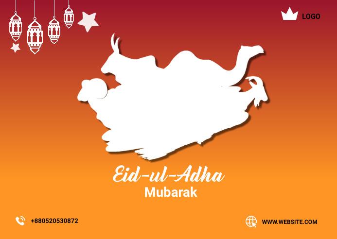 Happy Eid-u-Adha Postcard 明信片 template