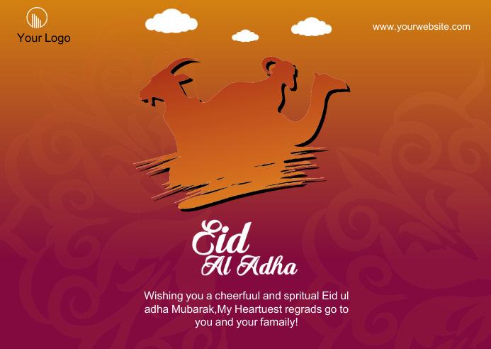 Happy Eid-u-Adha social medai post 明信片 template