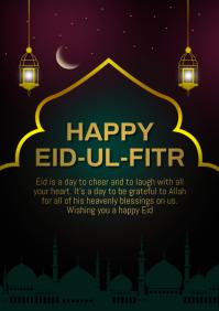 Happy Eid ul fitar A4 template