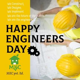 happy engineers day Publicação no Instagram template