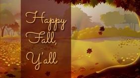 Happy Fall, Y'all Digitale display (16:9) template
