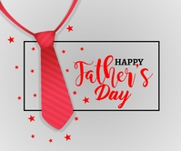 Happy Father's day Background with red tie Rectángulo Grande template
