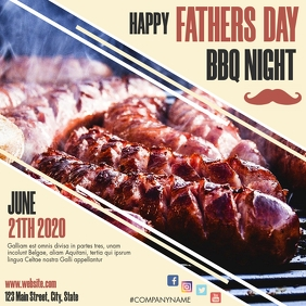 happy father's day bbq night instagram post a Instagram-bericht template