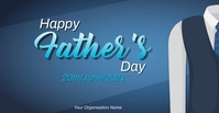 happy father's day card Facebook begivenhed cover template