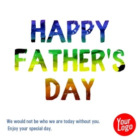 Happy Father's Day color ink animation video